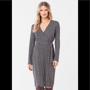 DVF Karis Silk-Jersey Faux Wrap Dress size 16